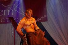 Objednaný striptér schoval divačku pod plášť. Žena si vychutnala striptéra.